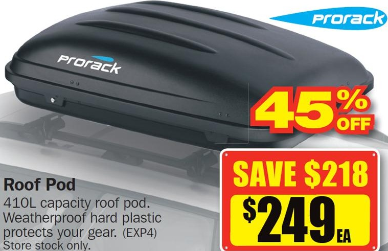 Prorack Roof Pod For 249 171 Cashme