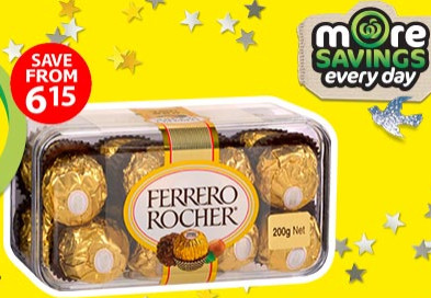 Ferrero Rocher Chocolate 16 Pieces for $5 at Woolworths