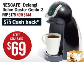 Nescafe Delongi Dolce Gusto Genio 2 Coffee Machine $69 After Cashback at Target