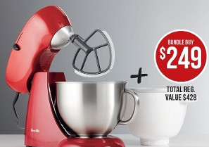 Breville Platinum Bench Mixer & Breville Freeze And Mix Ice Cream Bowl $249 at Target