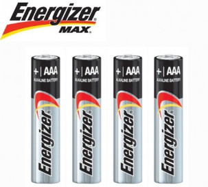 4x Energizer Max Alkaline AAA Battery $2.95 at Shopping Square