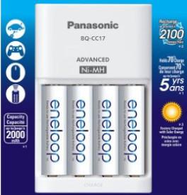Panasonic New 2100 Cycle 4xAA Eneloop Batteries & Charger $25.95