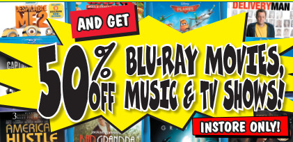 Buy Any Blu-Ray Player/Home Theatre System and Get 50% off Blu-Ray at JB Hi-Fi