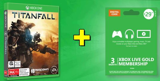 Titanfall Xbox One + 3 Month Xbox Live + Bonus $20 Xbox Live Credit for $99.95 at JB Hi-Fi