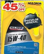 Nulon Premium Mineral 15W-40 SL/CF $14.99 at Repco