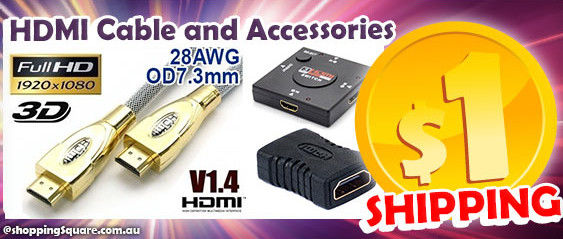 $1 Shipping for HDMI Cable and Accessories at Shopping Square